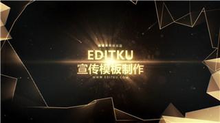 PR预设原创制作公司年度颁奖典礼晚会开幕大气金色宣传片头开场视频-PR模板下载