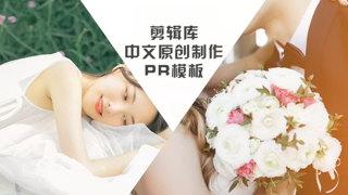 PR模板下载制作婚礼电子请柬邀请函视频相册婚纱照片动画幻灯片