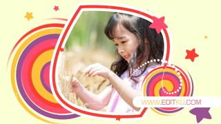 原创PR模板下载彩色可爱儿童相册视频制作六一学校活动小孩照片