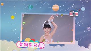 中文PR模板卡通动画可爱儿童晚会幼儿成长记录相册